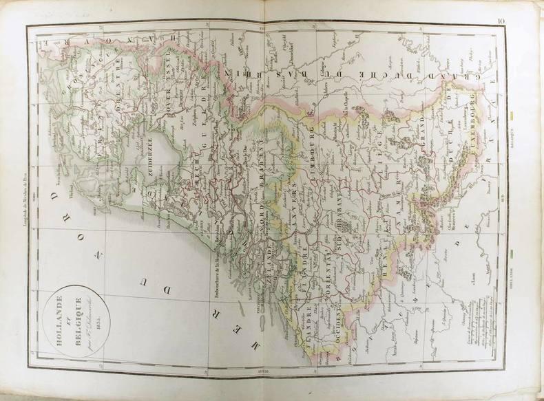 Hollande et Belgique. (Carte dressée en 1834).. DELAMARCHE Félix