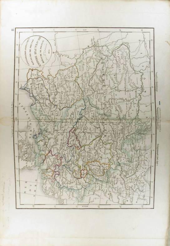 Confédération germanique, Royaume de Prusse, Empire d'Autriche, Royaume de Pologne. (Carte dressée en 1834).. DELAMARCHE Félix