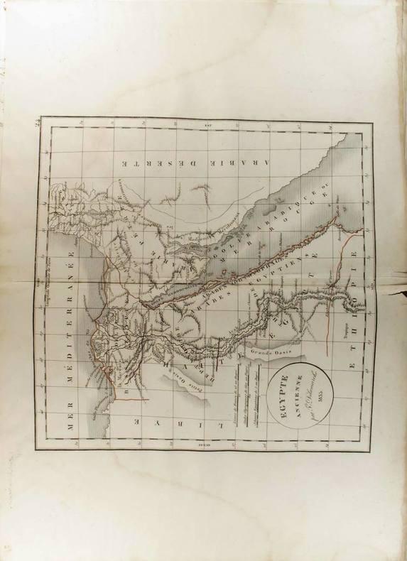 Egypte ancienne. (Carte dressée en 1834).. DELAMARCHE Félix