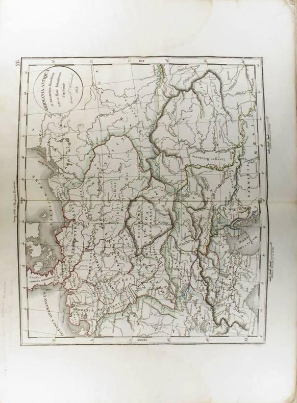 Germania Antiqua et Regiones Danubium inter et Mare Adriaticum Contentoe. (Carte dressée en 1834).. DELAMARCHE Félix