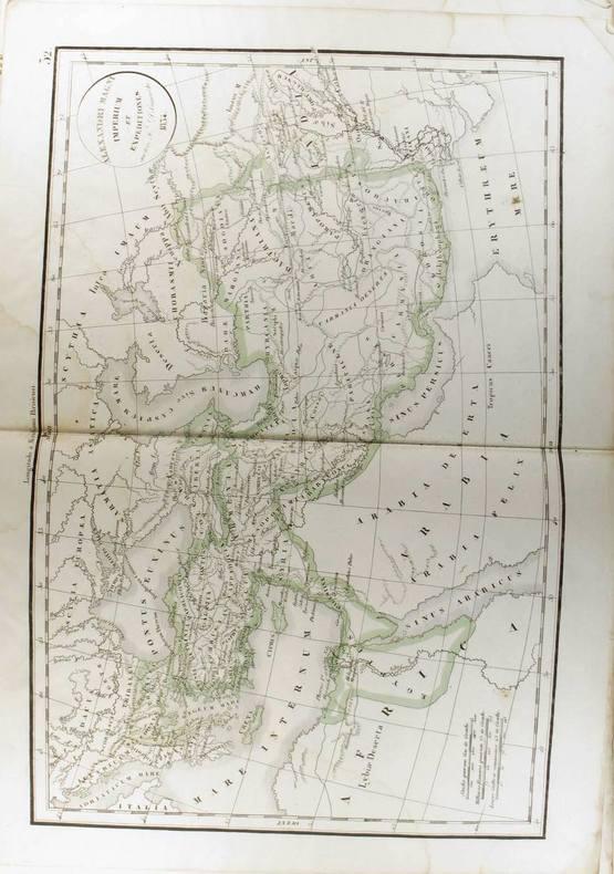 Alexandri Magni Imperium et expeditiones. (Carte dressée en 1834).. DELAMARCHE Félix