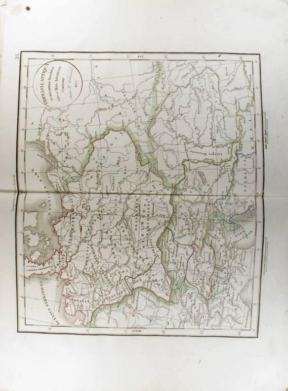 Germania Antiqua et Regiones Danubium inter et Mare Adriaticum Contentoe. (Carte dressée en 1833).. DELAMARCHE Félix