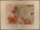 Les volcans de la France centrale. Carte géologique en couleurs extraite de la Nouvelle géographie universelle d'Elisée Reclus.. VOLCANS D'AUVERGNE ...