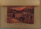 La femme aux champs. Gravure colorisée extraite de l'histoire illustrée de la guerre du droit, d'Emile Hinzelin.. MOUREN H.