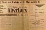 Le Monde libertaire N° 54. Organe de la Fédération anarchiste. Mensuel.. LE MONDE LIBERTAIRE