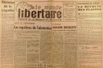 """""""Le Monde libertaire N° 67. Organe de la Fédération anarchiste. Mensuel. Référendum ; Le Laos ; Cuba ... Février 1961."""". Collectif : LE MONDE ..."""