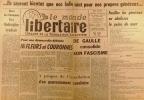 """""""Le Monde libertaire N° 80. Organe de la Fédération anarchiste. Mensuel. De Gaulle consolide son fascisme ; Le procès Jouhaud ; Cuba ; La Commune de ..."""