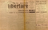 """""""Le Monde libertaire N° 84. Organe de la Fédération anarchiste. Mensuel. Cuba ; Algérie ; A bas l'armée ... Novembre 1962."""". Collectif : LE MONDE ..."""