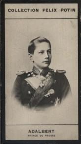 Photographie de la collection Félix Potin (4 x 7,5 cm) représentant : Prince Adalbert de Prusse.. ADALBERT - Prince de Prusse