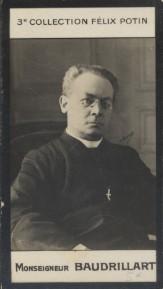 Photographie de la collection Félix Potin (4 x 7,5 cm) représentant : Monseigneur Baudrillart.. BAUDRILLART (Mgr) - (Photo de la 3e collection Félix ...