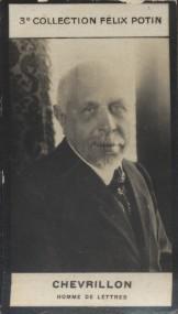 Photographie de la collection Félix Potin (4 x 7,5 cm) représentant : Chevrillon, homme de lettres.. CHEVRILLON (Homme de lettres) - (Photo de la 3e ...