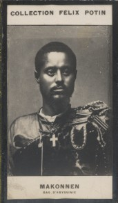 Photographie de la collection Félix Potin (4 x 7,5 cm) représentant : Makonnen, Ras d'Abyssinie. Début XXe.. MAKONNEN (Ras d'Abyssinie) - (Photo de la ...