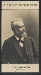 Photographie de la collection Félix Potin (4 x 7,5 cm) représentant : Jean-Marie Antoine de Lanessan, homme politique.. LANESSAN (Jean-Marie - Antoine ...