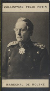 Photographie de la collection Félix Potin (4 x 7,5 cm) représentant : Helmut Von Moltke, maréchal allemand. Début XXe.. MOLTKE (Helmuth de) - (Photo ...