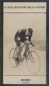Photographie de la collection Félix Potin (4 x 7,5 cm) représentant : Dominico Momo, cycliste.. MOMO (Dominico) - (Photo de la 2e collection Félix ...