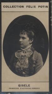 Photographie de la collection Félix Potin (4 x 7,5 cm) représentant : Princesse Gisèle d'Autriche-Hongrie.. GISELE (Princesse d'Autriche-Hongrie)