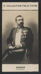 Photographie de la collection Félix Potin (4 x 7,5 cm) représentant : Louis-Gustave Binger, explorateur. Début XXe.. BINGER (Louis-Gustave) - (Photo ...