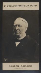 Photographie de la collection Félix Potin (4 x 7,5 cm) représentant : Gaston Boissier, homme de lettres. Début XXe.. BOISSIER (Gaston) - (Photo de la ...