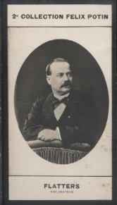 Photographie de la collection Félix Potin (4 x 7,5 cm) représentant : Charles Flatters, explorateur.. FLATTERS (Charles) - (Photo de la 2e collection ...