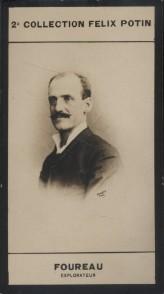Photographie de la collection Félix Potin (4 x 7,5 cm) représentant : Fernand Foureau, explorateur. (Mission Foureau-Lamy) Début XXe.. FOUREAU ...