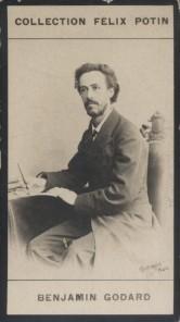 Photographie de la collection Félix Potin (4 x 7,5 cm) représentant : Benjamin Godard, compositeur. Début XXe.. GODARD (Benjamin) - (Photo de la ...