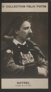 Photographie de la collection Félix Potin (4 x 7,5 cm) représentant : Théodore Botrel, homme de lettres.. BOTREL (Théodore) - (Photo de la 2e ...