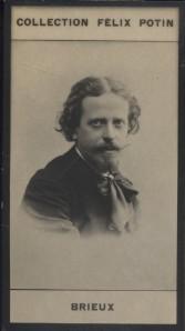Photographie de la collection Félix Potin (4 x 7,5 cm) représentant : Eugène Brieux, écrivain. Début XXe.. BRIEUX (Eugène) - (Photo de la collection ...