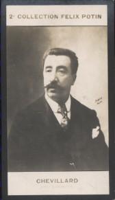 Photographie de la collection Félix Potin (4 x 7,5 cm) représentant : Camille Chevillard, compositeur. Début XXe.. CHEVILLARD (Camille) - (Photo de la ...