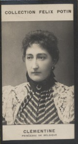Photographie de la collection Félix Potin (4 x 7,5 cm) représentant : Princesse Clémentine de Belgique.. CLEMENTINE - Princesse de Belgique.