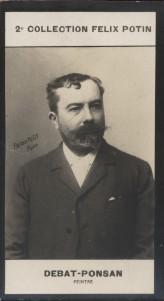 Photographie de la collection Félix Potin (4 x 7,5 cm) représentant : Edouard Debat-Ponsan, peintre.. DEBAT-PONSAN (Edouard) - (Photo de la 2e ...