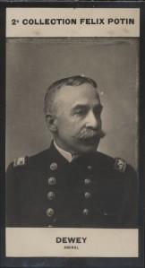 Photographie de la collection Félix Potin (4 x 7,5 cm) représentant : Amiral Dewey.. DEWEY (Georges) - (Photo de la 2e collection Félix Potin)