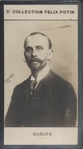 Photographie de la collection Félix Potin (4 x 7,5 cm) représentant : Guillaume Dubufe, peintre.. DUBUFE (Guillaume) - (Photo de la 2e collection ...