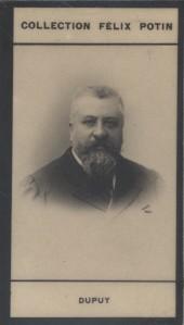 Photographie de la collection Félix Potin (4 x 7,5 cm) représentant : Charles Dupuy, homme politique. Début XXe.. DUPUY (Charles) - (Photo de la ...