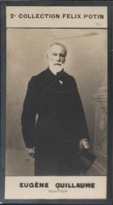 Photographie de la collection Félix Potin (4 x 7,5 cm) représentant : Eugène Guillaume, sculpteur.. GUILLAUME (Eugène) - (Photo de la 2e collection ...