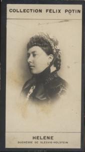 Photographie de la collection Félix Potin (4 x 7,5 cm) représentant : Duchesse Hélène de Slesvig-Holstein. Début XXe.. HELENE, Duchesse de ...