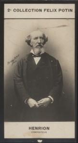 Photographie de la collection Félix Potin (4 x 7,5 cm) représentant : Paul Henrion, compositeur.. HENRION (Paul) - (Photo de la 2e collection Félix ...