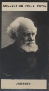 Photographie de la collection Félix Potin (4 x 7,5 cm) représentant : Général Jamont.. JAMONT (Edouard-Fernand) Photo Appert.