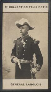 Photographie de la collection Félix Potin (4 x 7,5 cm) représentant : Hippolyte Langlois, général.. LANGLOIS (Hippolyte) - (Photo de la 2e collection ...