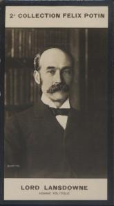 Photographie de la collection Félix Potin (4 x 7,5 cm) représentant : Lord Lansdowne, homme politique anglais.. LANSDOWNE (Lord) - (Photo de la 2e ...