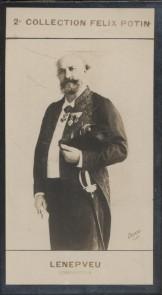 Photographie de la collection Félix Potin (4 x 7,5 cm) représentant : Charles Lenepveu, compositeur. Début XXe.. LENEPVEU (Charles) - (Photo de la 2e ...