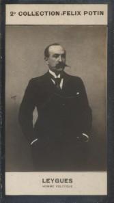 Photographie de la collection Félix Potin (4 x 7,5 cm) représentant : Georges Leygues, homme politique.. LEYGUES (Georges) - (Photo de la 2e ...