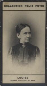 Photographie de la collection Félix Potin (4 x 7,5 cm) représentant : Grande Duchesse Louise de Bade. Début XXe.. LOUISE, Grande Duchesse de Bade - ...