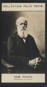 Photographie de la collection Félix Potin (4 x 7,5 cm) représentant : Dom Pedro - Empereur du Brésil.. DOM PEDRO (Empereur du Brésil)