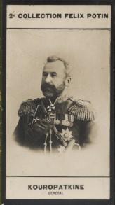 Photographie de la collection Félix Potin (4 x 7,5 cm) représentant : Général Kouropatkine.. KOUROPATKINE (Alexis-Nicolaiévitch) - (Photo de la 2e ...