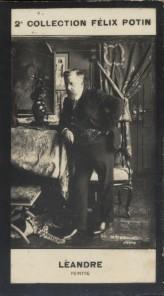 Photographie de la collection Félix Potin (4 x 7,5 cm) représentant : Charles-Lucien Léandre, caricaturiste.. LEANDRE (Charles-Lucien) - (Photo de la ...
