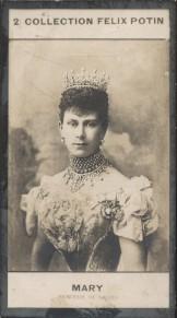 Photographie de la collection Félix Potin (4 x 7,5 cm) représentant : Mary, Princesse de Galles. Début XXe.. MARY (Princesse de Galles) - (Photo de la ...
