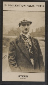 Photographie de la collection Félix Potin (4 x 7,5 cm) représentant : Georges Stern, jockey.. STERN (Georges) - (Photo de la 2e collection Félix ...