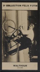 Photographie de la collection Félix Potin (4 x 7,5 cm) représentant : Bobby Walthour, coureur cycliste. Début XXe.. WALTHOUR Bobby - (Photo de la 2e ...