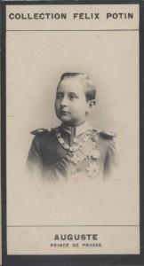Photographie de la collection Félix Potin (4 x 7,5 cm) représentant : Auguste - Prince de Prusse.. AUGUSTE - Prince de Prusse