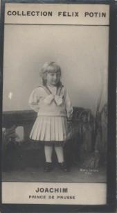 Photographie de la collection Félix Potin (4 x 7,5 cm) représentant : Prince Joachim de Prusse. Début XXe.. JOACHIM (Prince de Prusse) - (Photo de la ...